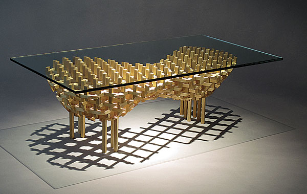 Half lap joint coffee table finewoodworking for Table joints