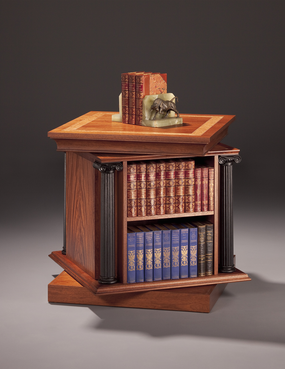End Table Showing The Bookcase Revolving