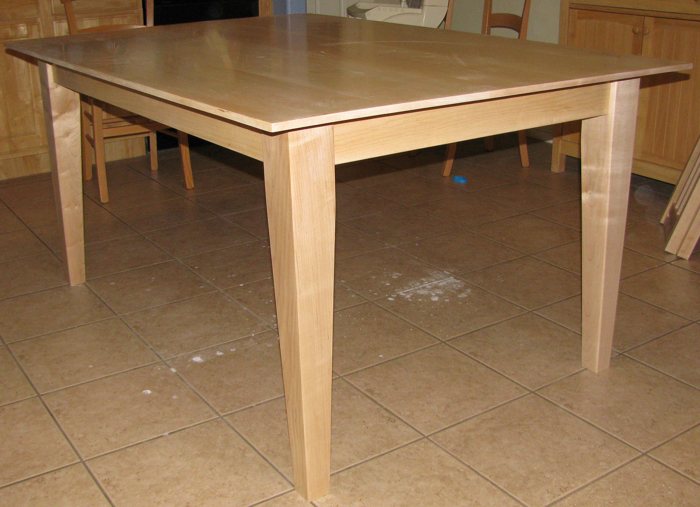 with the flash appears more natural solid maple kitchen table - Maple Kitchen Table