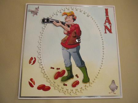 Card Gallery - Clay Pigeon Shooting Dude Decoupage Sheet.