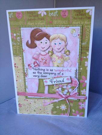 Card Gallery - Friend Any Occasion Card with Decoupage