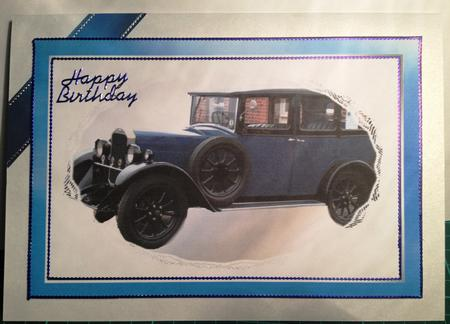 Card Gallery - 80th Birthday Vintage Car