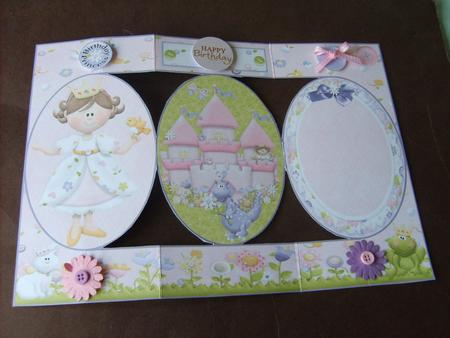 Card Gallery - Fairytale Princess Birthday Tri-Shutter Quick Card 2