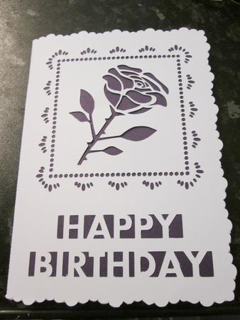 Card Gallery - Happy Birthday Rose Card Template studio file