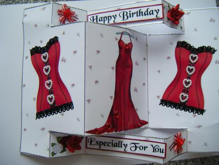 Card Gallery - Tri-fold Red Ladies