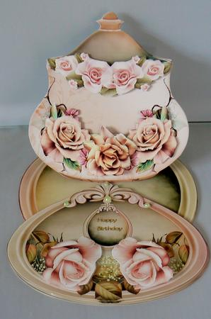 Latest Upload - Lovely Easelcard Jar With Cream and Brown Roses