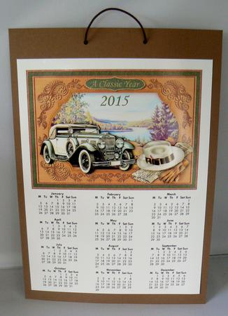 Latest Upload - VINTAGE CLASSIC CAR 2015 A4 UK Calendar & Decoupage Mini Kit