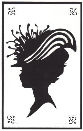 Lady in Hat Silhouette Topper - 09 in Card Gallery