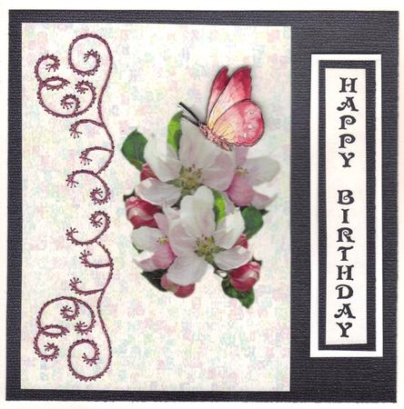 Apple Blossom Card Front in Card Gallery