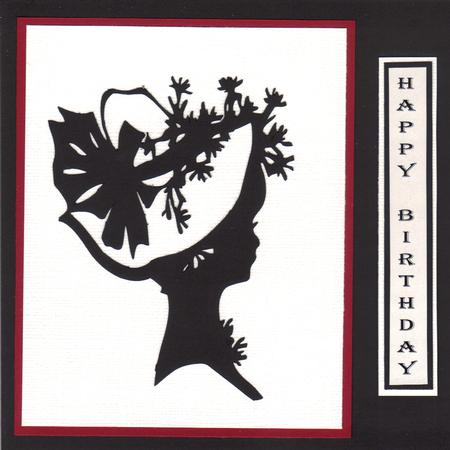 Lady in Hat Silhouette Topper - 04 in Card Gallery