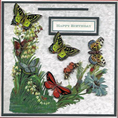 Garden Butterfly Decoupage in Card Gallery
