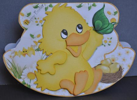 Card Gallery - Easter Chick Wobble or Rocker Card