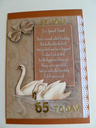 Card Gallery - Special Friend - Swans Decoupage