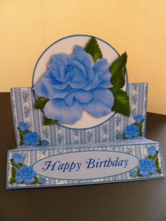 Card Gallery - Blue Roses Zig Zag Card Extras