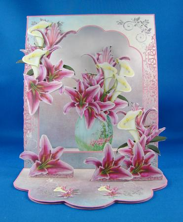Card Gallery - 3D Open Front Easel Kit - Lilies Galore