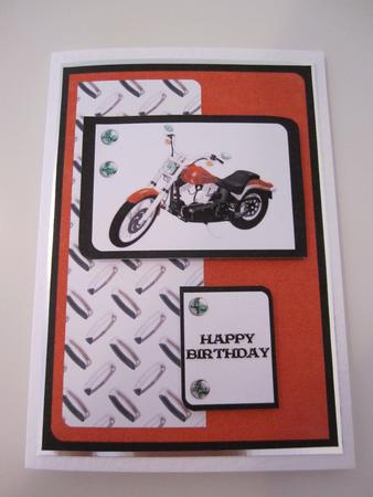 Motorcycle 1 - for You-happy Birthday Card