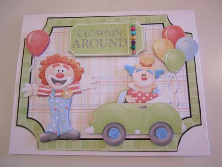 Clowning Around Shaped Card Front