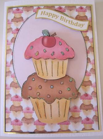Cup Cake Card Front 1