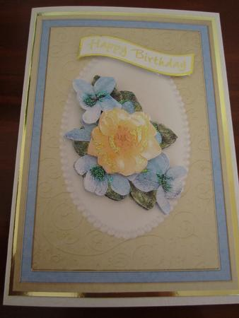 Flowers & Pearls Quick Card with Decoupage in Card Gallery