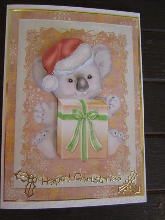 Cute Koala with a Big Present in Card Gallery