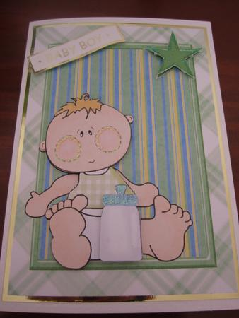 Cute Baby Boy in Green Frame in Card Gallery