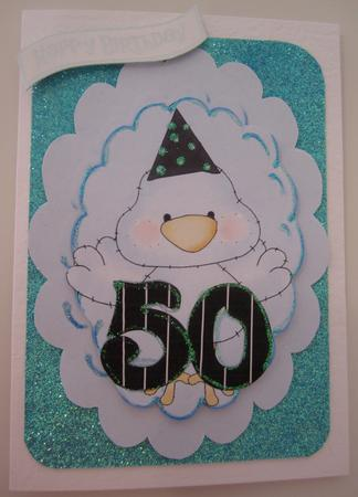 Blue Tweety Bird, Birthday, 30's, 40's, 50's & 60's Toppers in Card Gallery