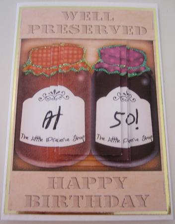 A5 Novelty Well Preserved 50th Birthday Jams Pyramage in Card Gallery
