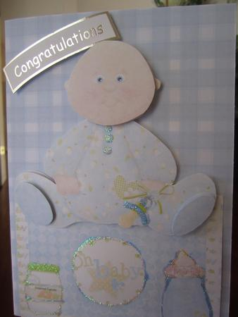 Over the Edge Baby Boy Card Topper in Card Gallery