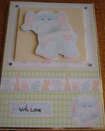 A5 Elephant Card Topper with Decoupage in Card Gallery