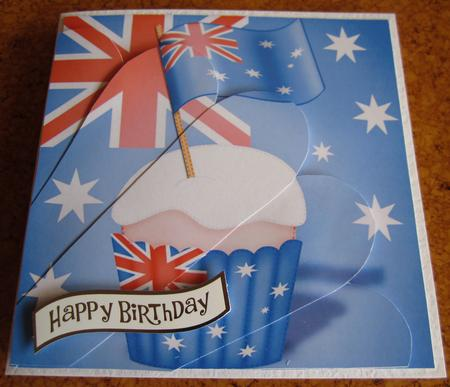 Flying the Flag Australia Fan Pyramage Topper in Card Gallery