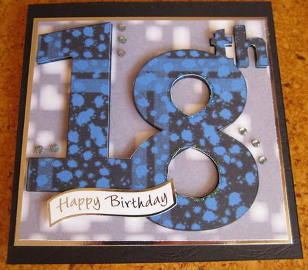 Blue Paint 18th Card in Card Gallery