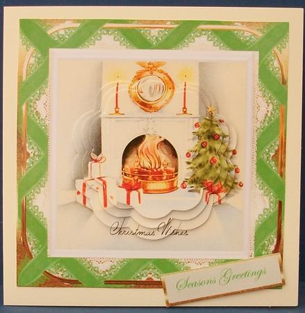 Card Gallery - Roaring fire at Christmas