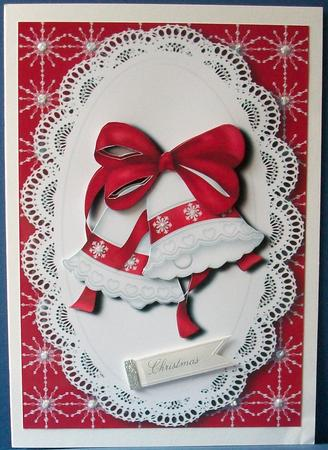 Card Gallery - Red & White Christmas Bells