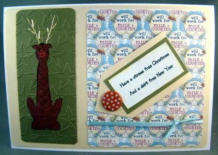 Card Gallery - Funky Reindeer Iris Folding Pattern