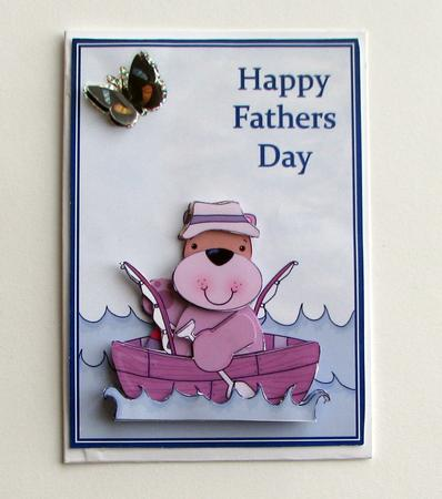 Card Gallery - Fathers Day fishing topper
