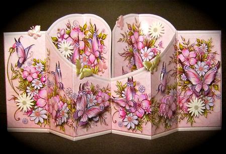 Card Gallery - Summer Flowers & Butterflies Double Diamond 3D Card Kit