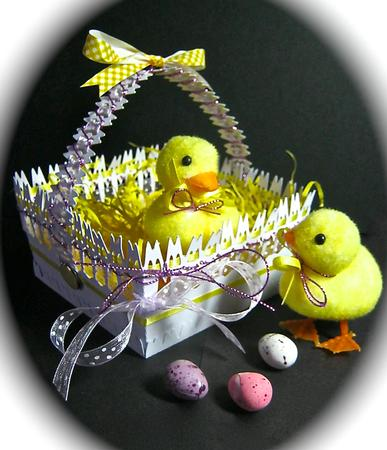 Card Gallery - Easter Basket - STUDIO Cutting File