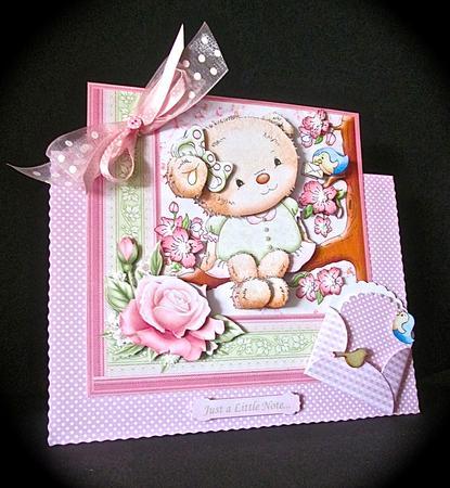 Card Gallery - BLOSSOM TEDDY Female Birthday Mini Kit & Decoupage