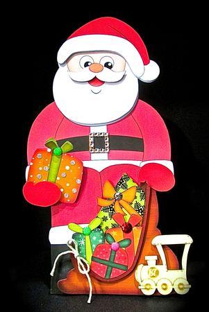Card Gallery - 3D On the Shelf Card Kit - Christmas Santa's Sack