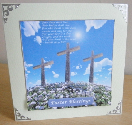 Card Gallery - Three crosses on a hill