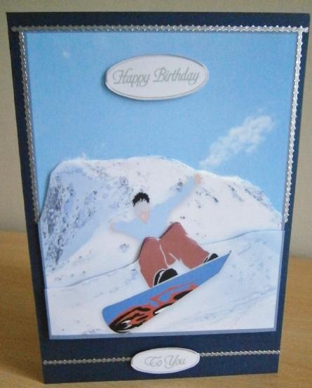 Card Gallery - snowboarding birthday