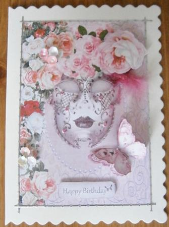 Floral Venetian Mask Birthday Topper - CUP373258_1664 ... Davina Rose Mask