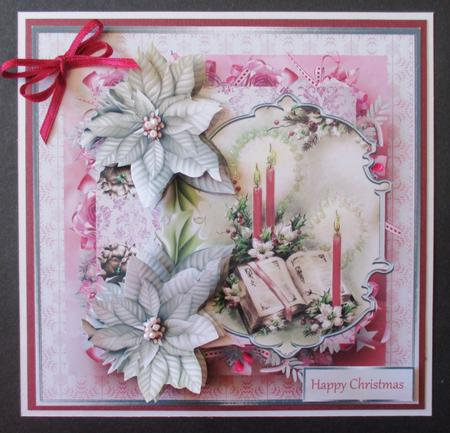 Card Gallery - The Christmas story 7x7 card with decoupage