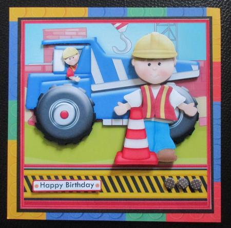 Card Gallery - DUMPER TRUCK 7.5 Decoupage Mini Kit for Boys or Men