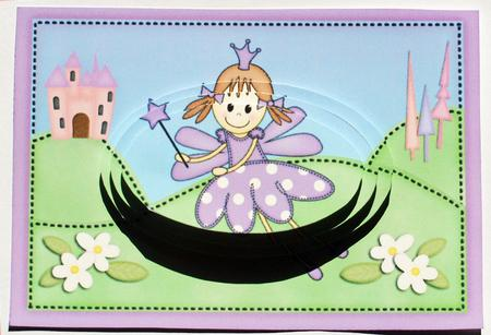 Card Gallery - A5 Fairy Twinkletoes Oval Pyramage Topper