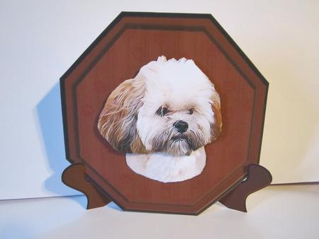 Card Gallery - Lhasa Apso Plaque & Stand