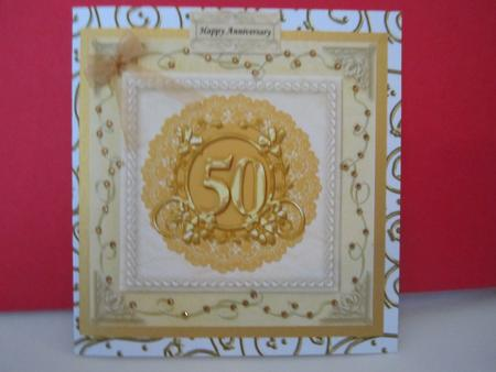 Card Gallery - 8x8 50th Wedding Anniversary Card Front