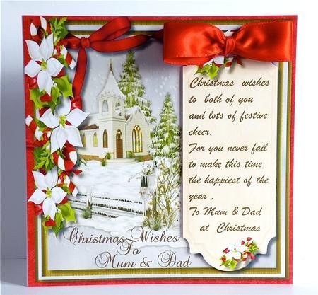 Christmas Greetings Mum & Dad with Verse - CUP555619_1398 | Craftsuprint