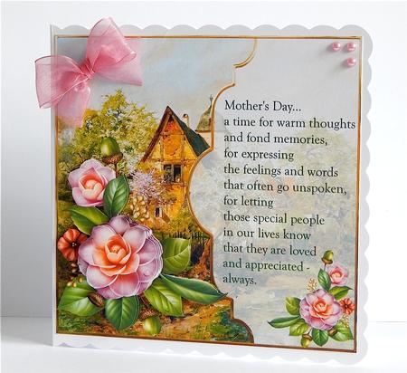 Card Gallery - flowers for mother with decoupage