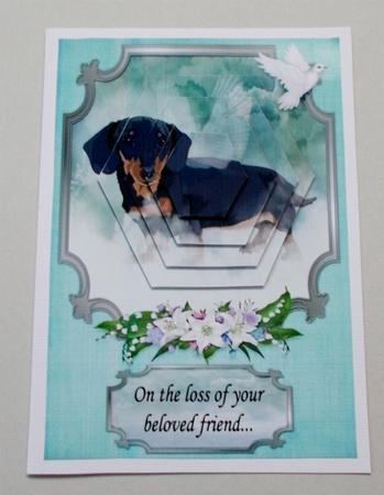 Dachshund Pet Sympathy A5 Topper in Card Gallery